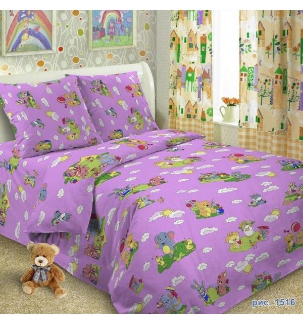 Комплект постельного белья детский БЯЗЬ (для девочки)