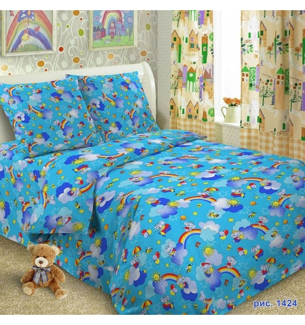 Комплект постельного белья детский БЯЗЬ (для мальчика)