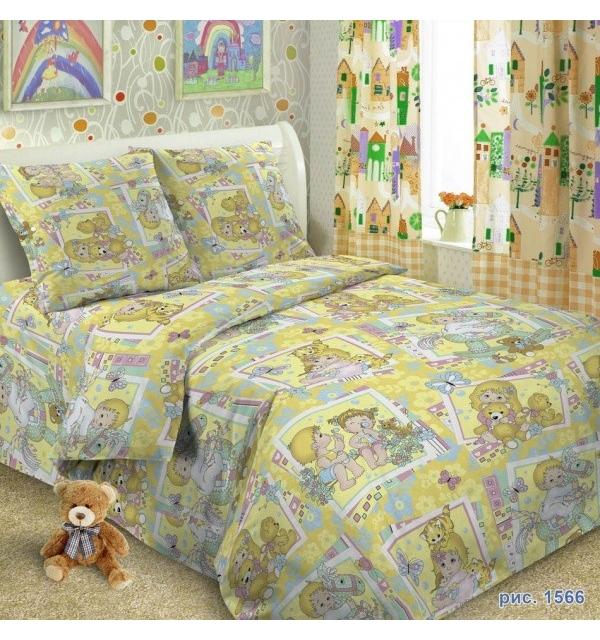 Комплект постельного белья детский ПОПЛИН (для девочки)