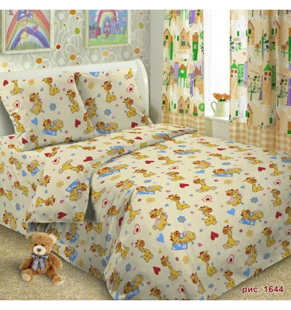 Комплект постельного белья детский ПОПЛИН+ТРИКОТАЖ (для девочки)