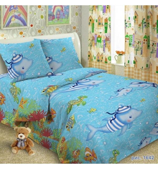 Комплект постельного белья детский ПОПЛИН+ТРИКОТАЖ (для мальчика)