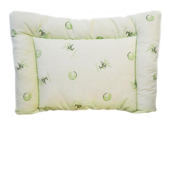 Подушка стеганая в детскую кроватку бамбук