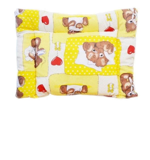 Подушка стеганая в детскую кроватку холлофайбер