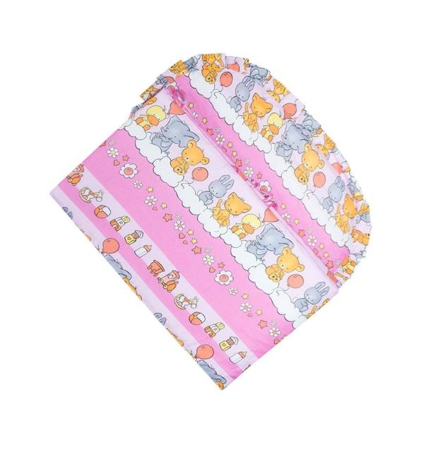 Бортик для детской кроватки (для девочки)