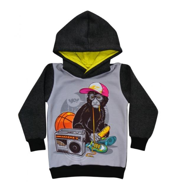 Серия 3D Толстовка на мальчика (Обезьянка в кепке)
