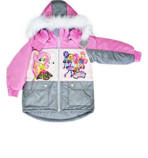 """Куртка """"Сказка"""" с меховой жилеткой на девочку (Рокс)"""