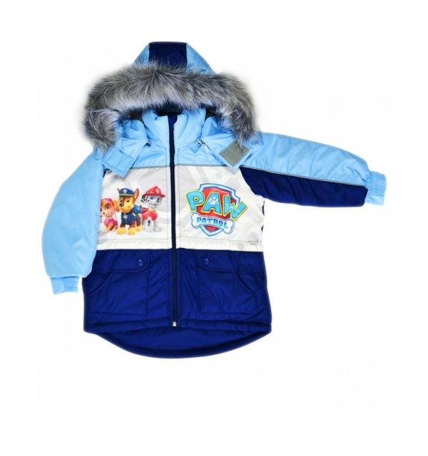 """Куртка """"Сказка"""" с меховой жилеткой на мальчика (Щенячий патруль)"""