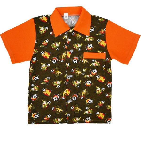 "рубашка на пуговицах цветная ""Боинг"""