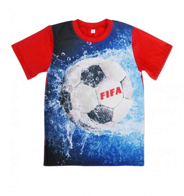 Серия 3D Футболка на мальчика (Мяч)