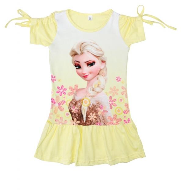 Платье 3D/короткий рукав (Эльза)
