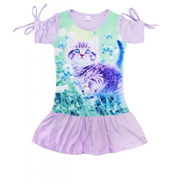 Платье 3D/короткий рукав (Котенок)