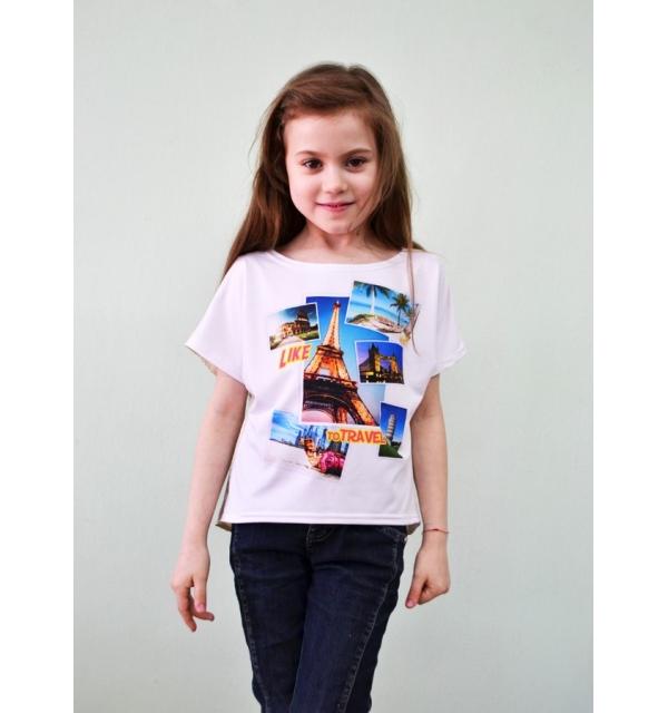 Серия 3D Блуза летняя атлас (Коллаж)