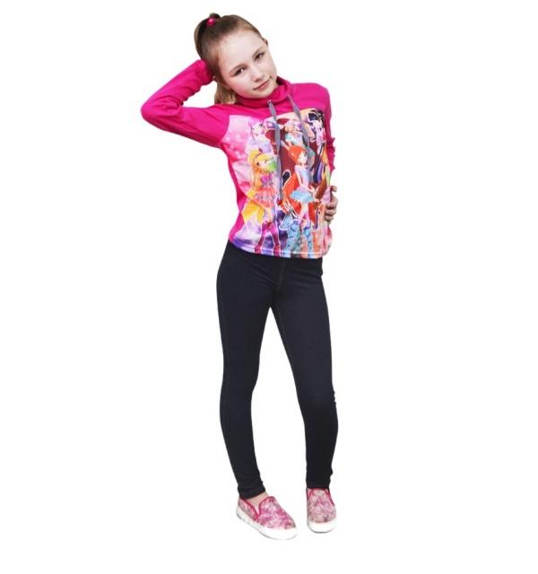 Серия 3D Худи на девочку (Винкс)